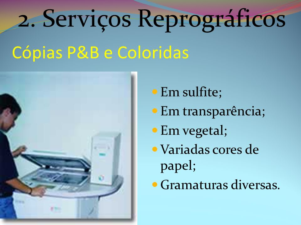 2. Serviços Reprográficos