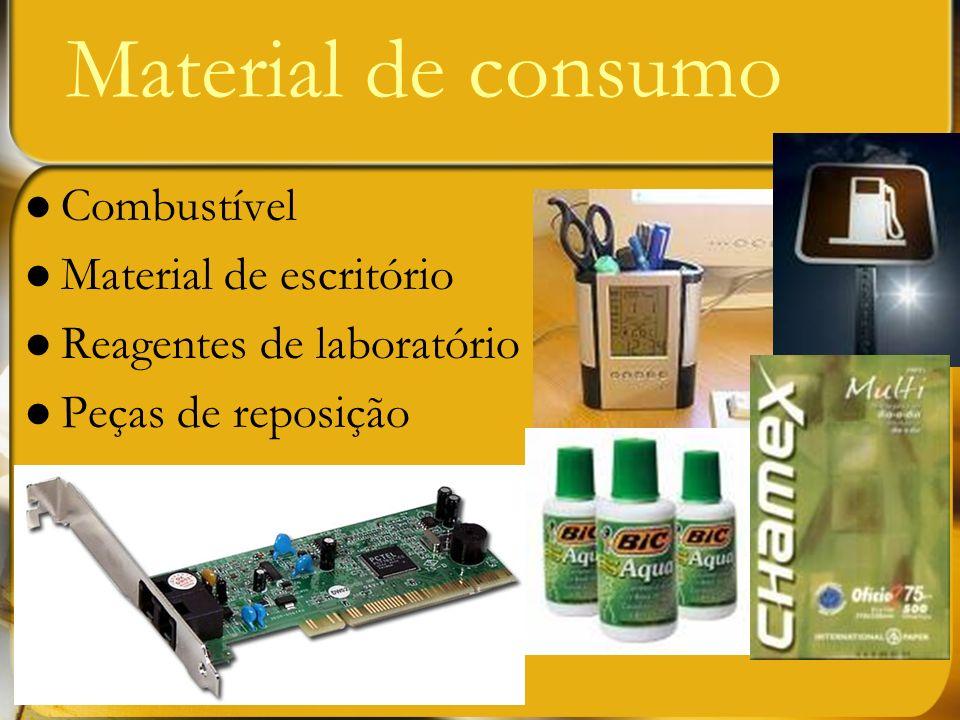Material de consumo Combustível Material de escritório