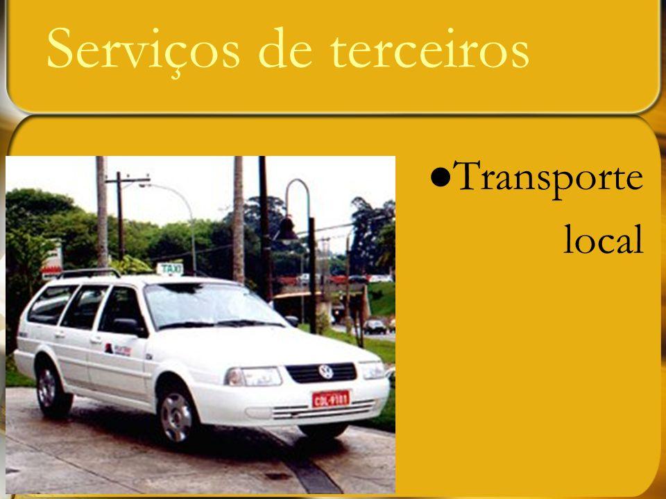 Serviços de terceiros Transporte local