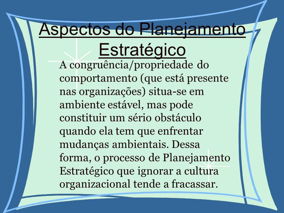 Aspectos do Planejamento Estratégico