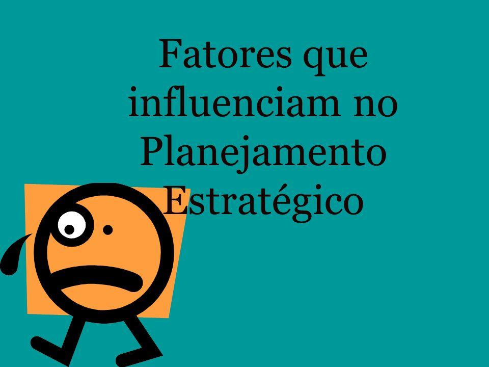 Fatores que influenciam no Planejamento Estratégico