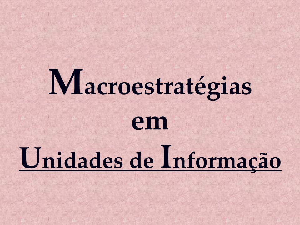 Macroestratégias em Unidades de Informação
