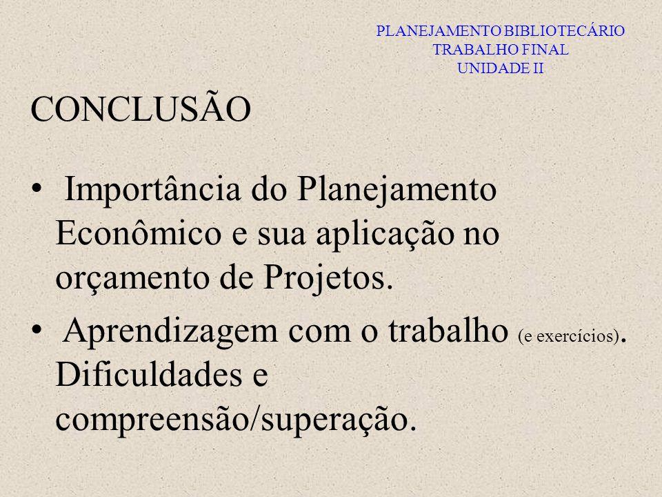 PLANEJAMENTO BIBLIOTECÁRIO TRABALHO FINAL UNIDADE II