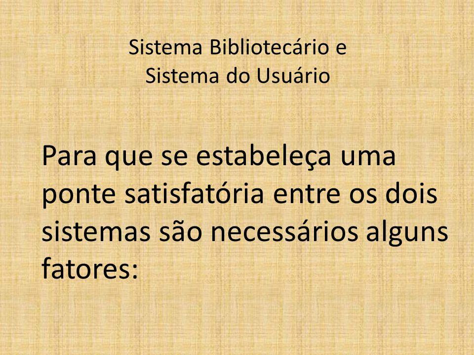 Sistema Bibliotecário e Sistema do Usuário
