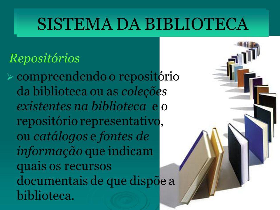SISTEMA DA BIBLIOTECA SISTEMA DA BIBLIOTECA Repositórios