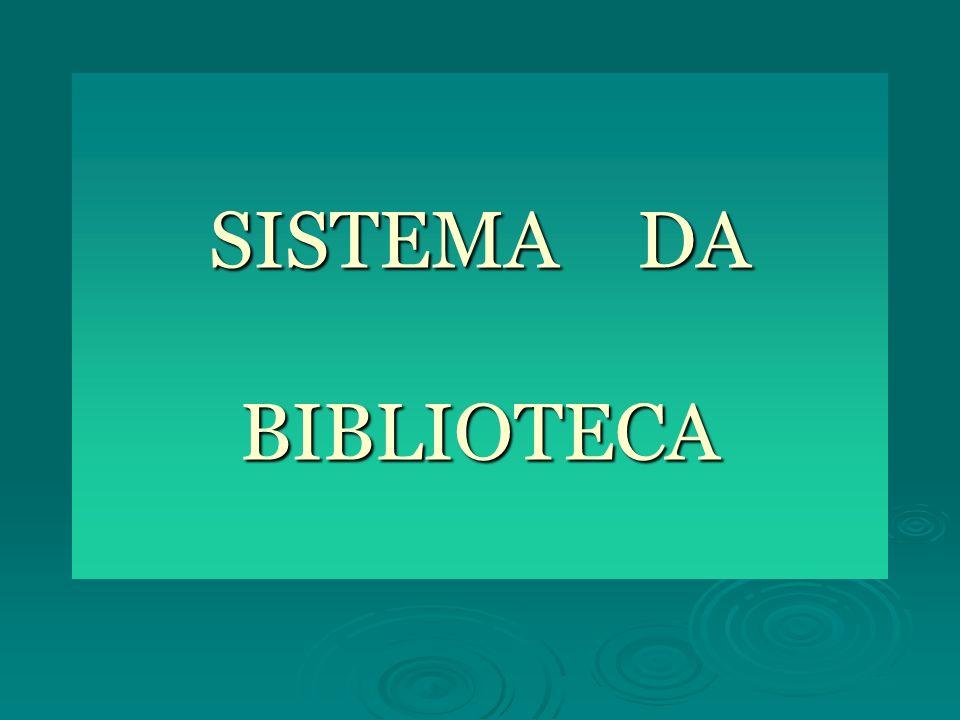 SISTEMA DA BIBLIOTECA