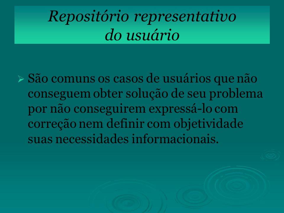 Repositório representativo do usuário