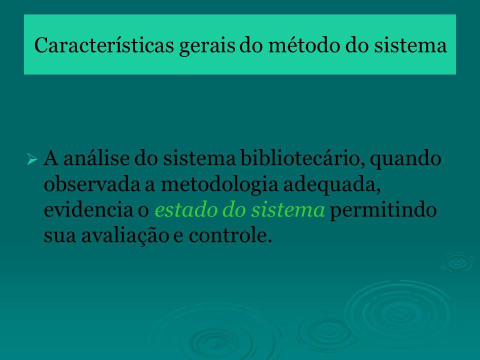 Características gerais do método do sistema