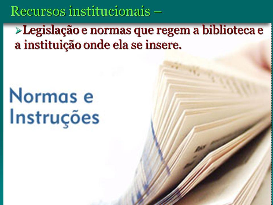 Recursos institucionais –
