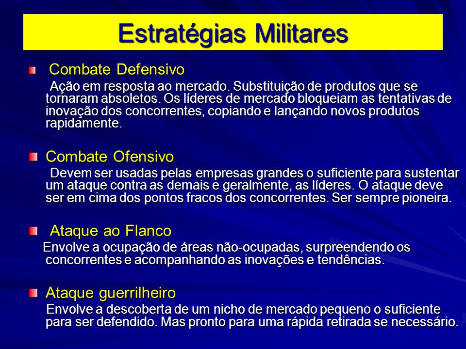 Estratégias Militares