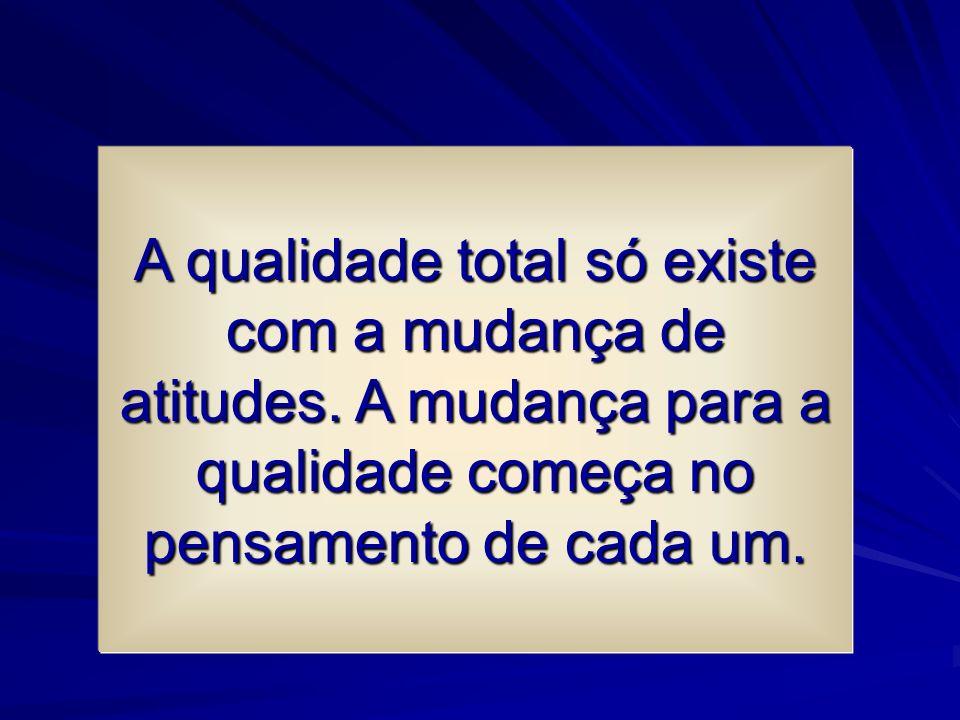 A qualidade total só existe com a mudança de atitudes