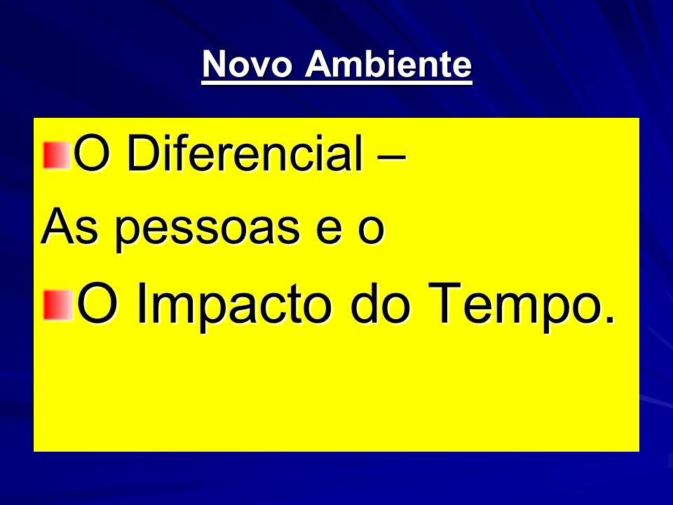 Novo Ambiente O Diferencial – As pessoas e o O Impacto do Tempo.