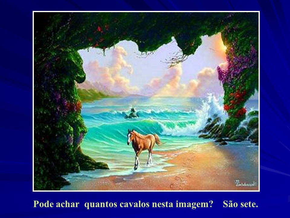 Pode achar quantos cavalos nesta imagem