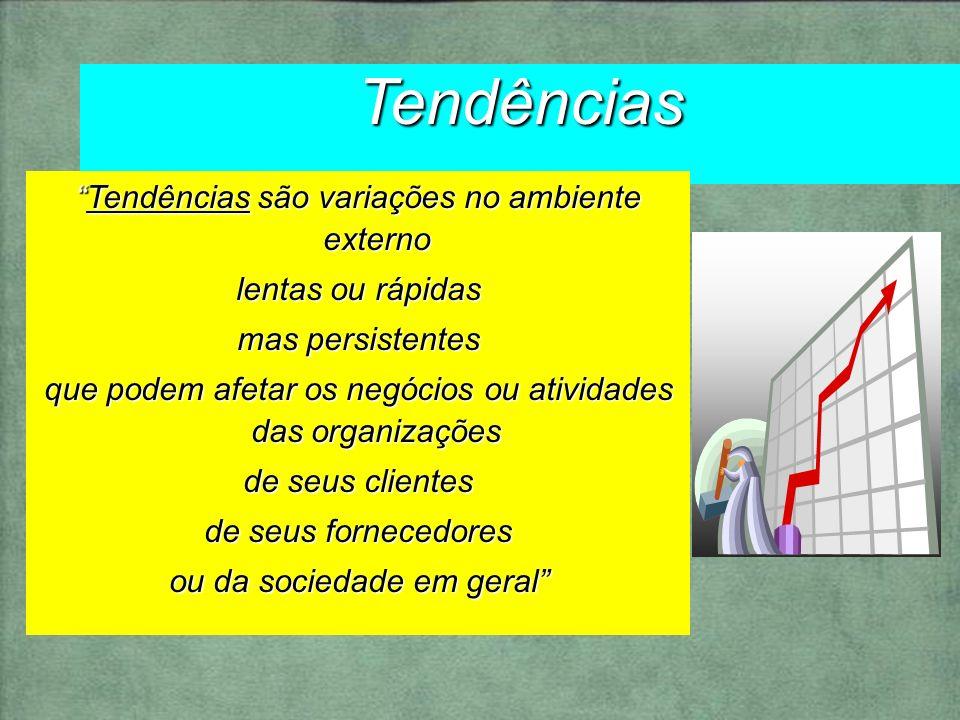 Tendências Tendências são variações no ambiente externo