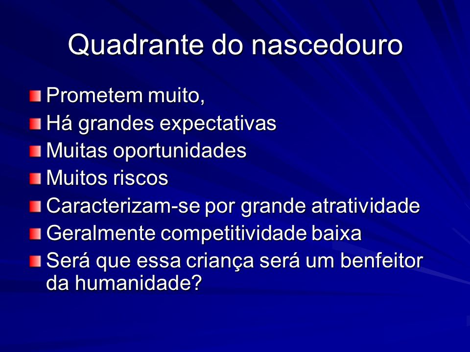 Quadrante do nascedouro