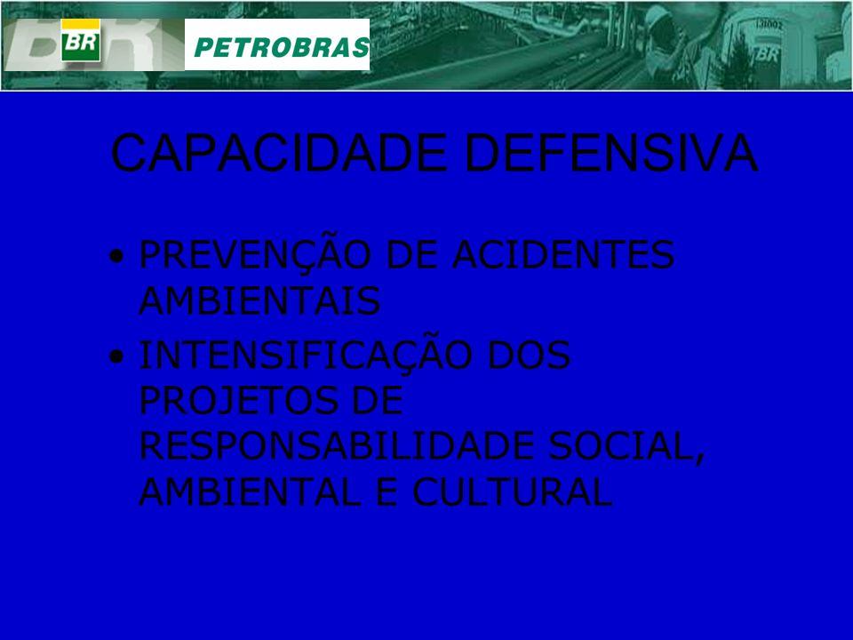 CAPACIDADE DEFENSIVA PREVENÇÃO DE ACIDENTES AMBIENTAIS