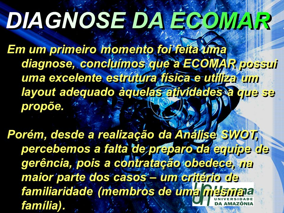 DIAGNOSE DA ECOMAR