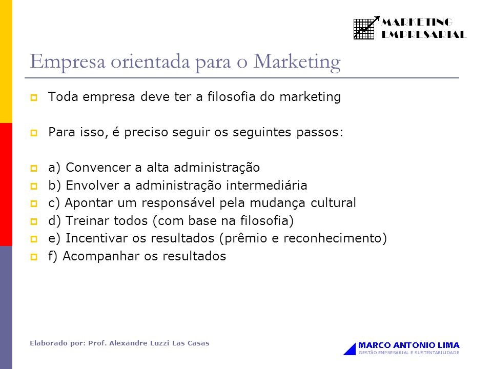 Empresa orientada para o Marketing