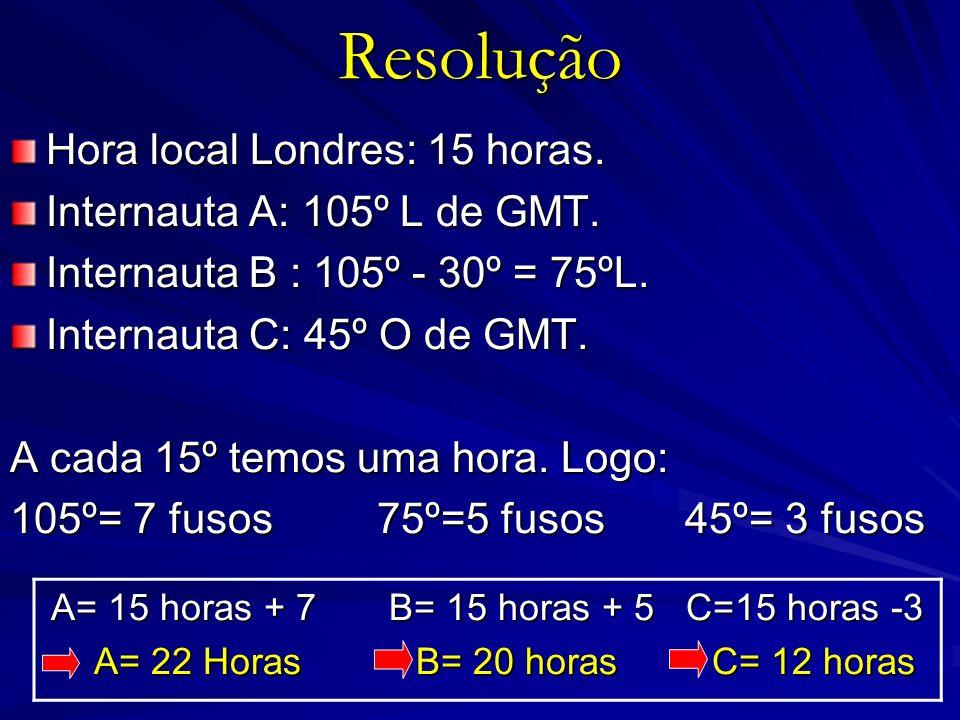 A= 15 horas + 7 B= 15 horas + 5 C=15 horas -3