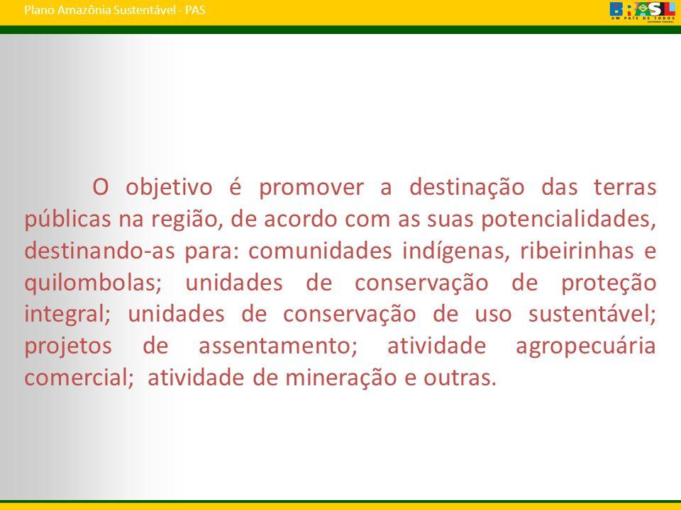 Plano Amazônia Sustentável - PAS