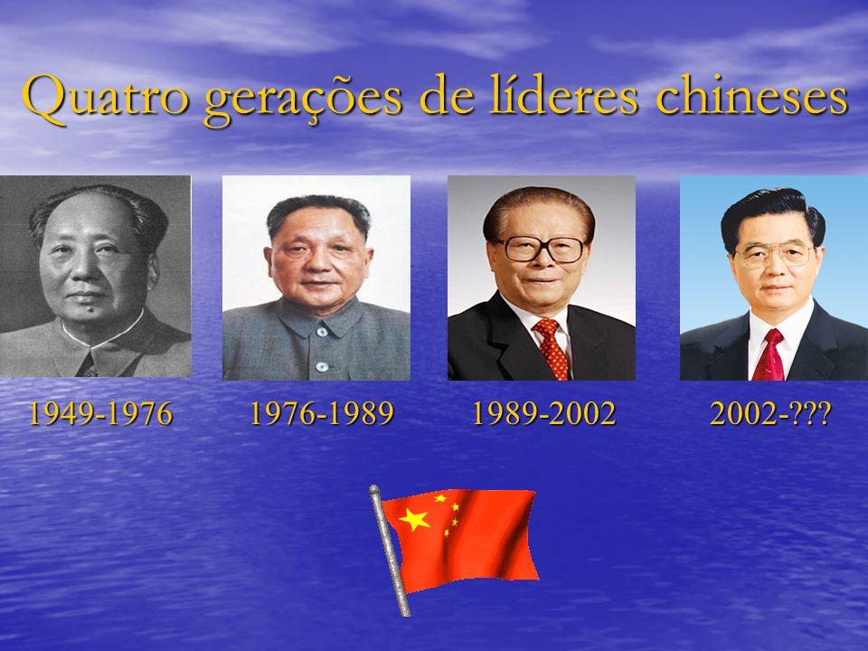 Quatro gerações de líderes chineses