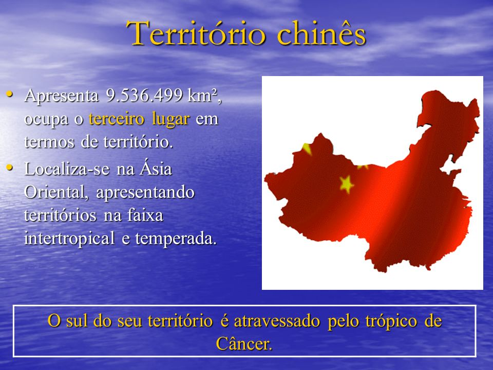 O sul do seu território é atravessado pelo trópico de Câncer.