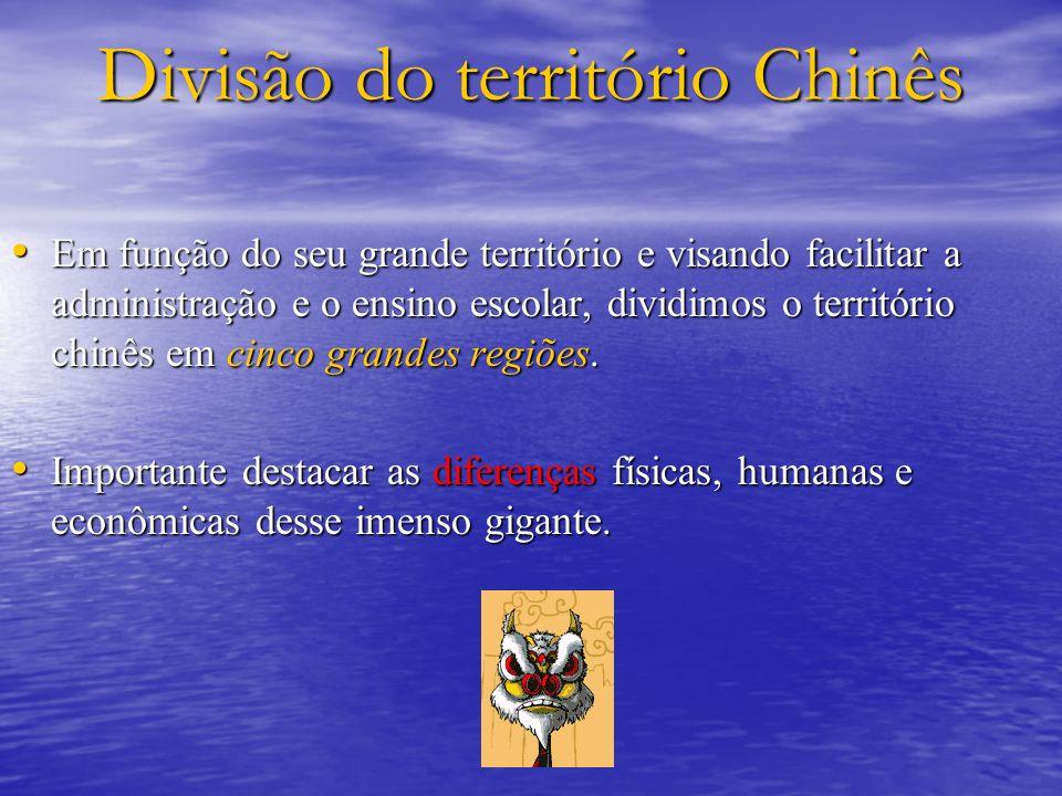 Divisão do território Chinês