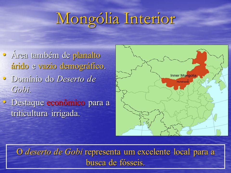 Mongólia Interior Área também de planalto árido e vazio demográfico.
