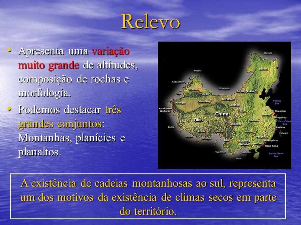 RelevoApresenta uma variação muito grande de altitudes, composição de rochas e morfologia.