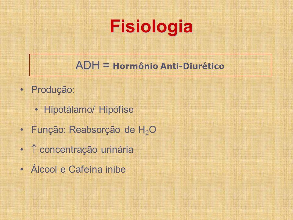 ADH = Hormônio Anti-Diurético