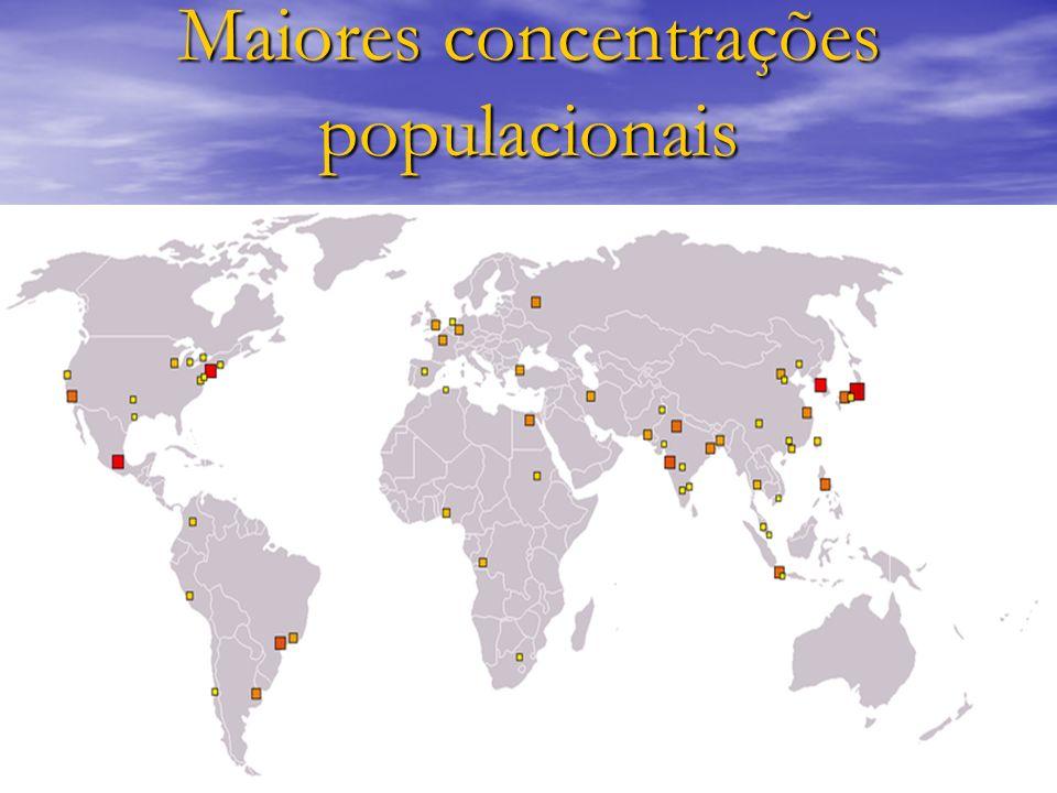 Maiores concentrações populacionais