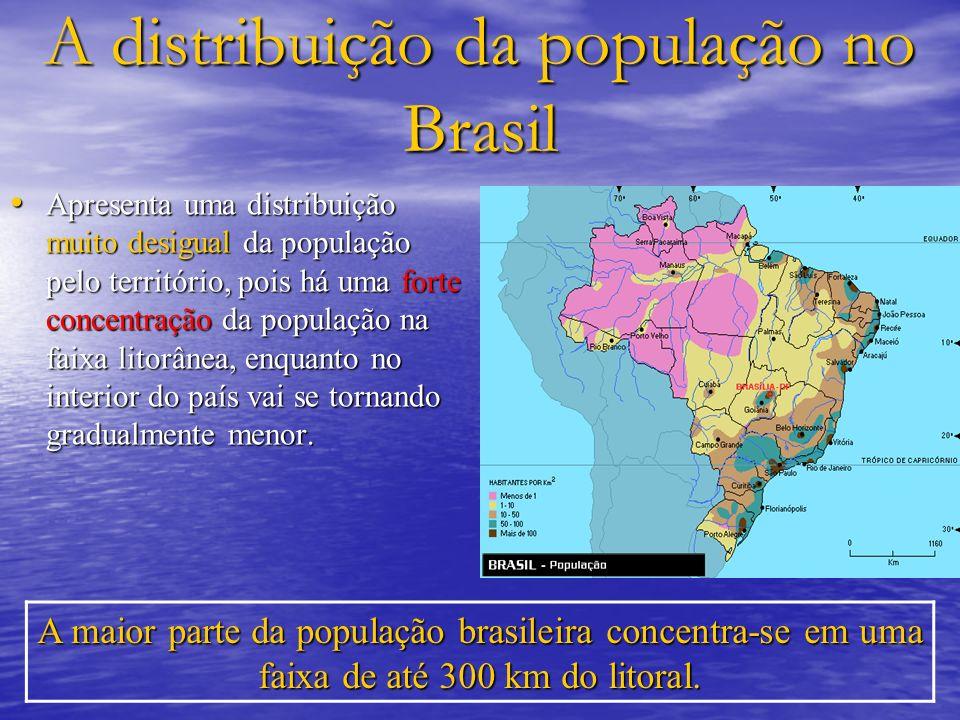 A distribuição da população no Brasil