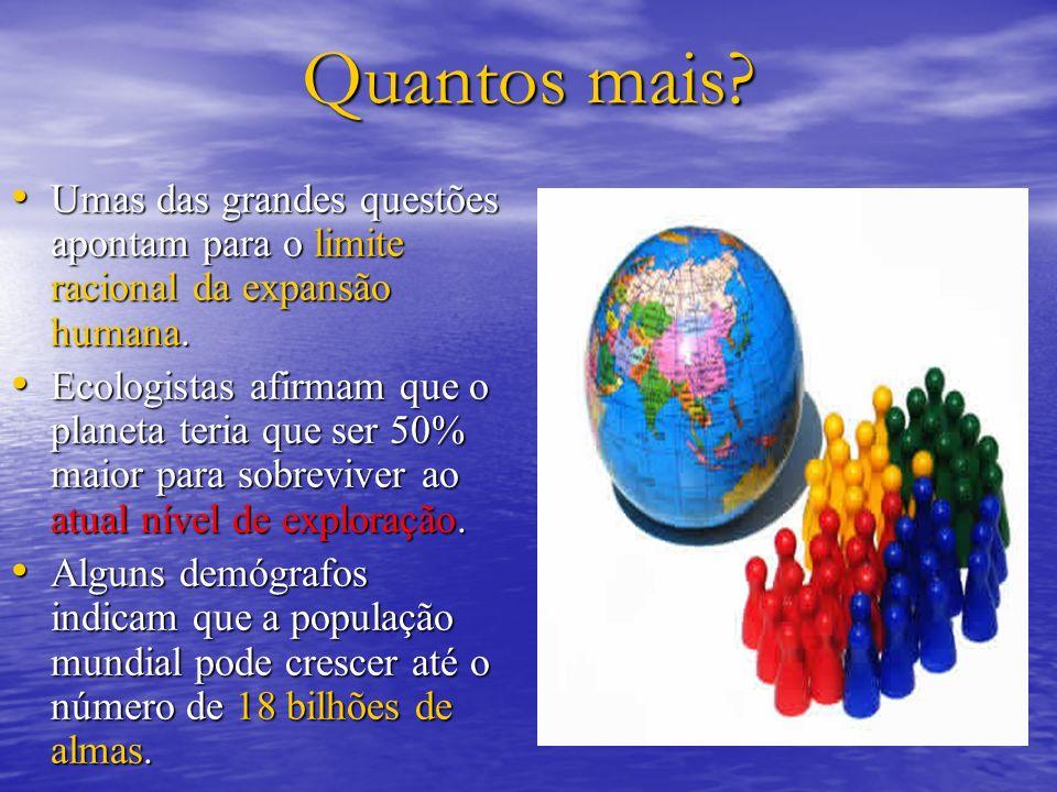 Quantos mais Umas das grandes questões apontam para o limite racional da expansão humana.