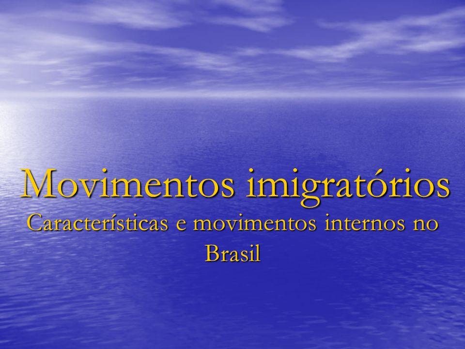 Movimentos imigratórios