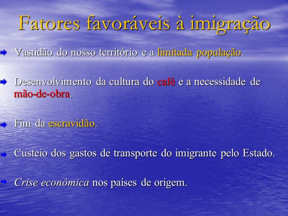 Fatores favoráveis à imigração