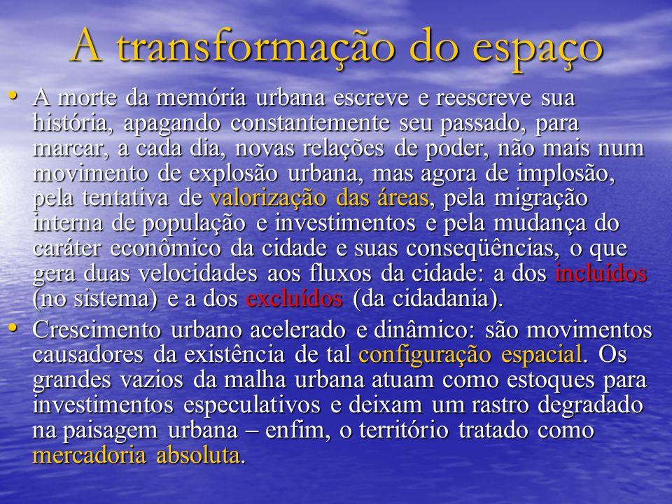 A transformação do espaço