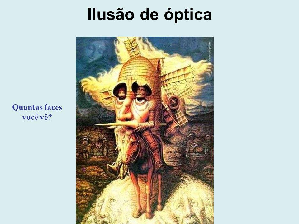 Ilusão de óptica Quantas faces você vê