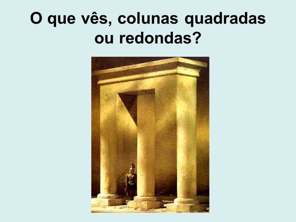 O que vês, colunas quadradas ou redondas