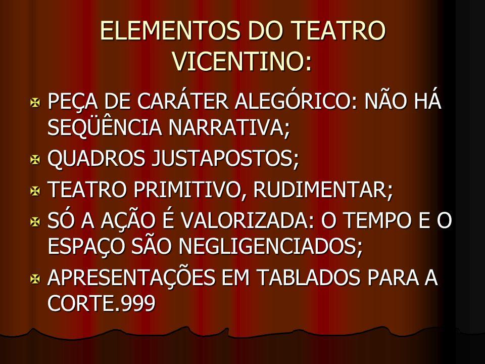 ELEMENTOS DO TEATRO VICENTINO: