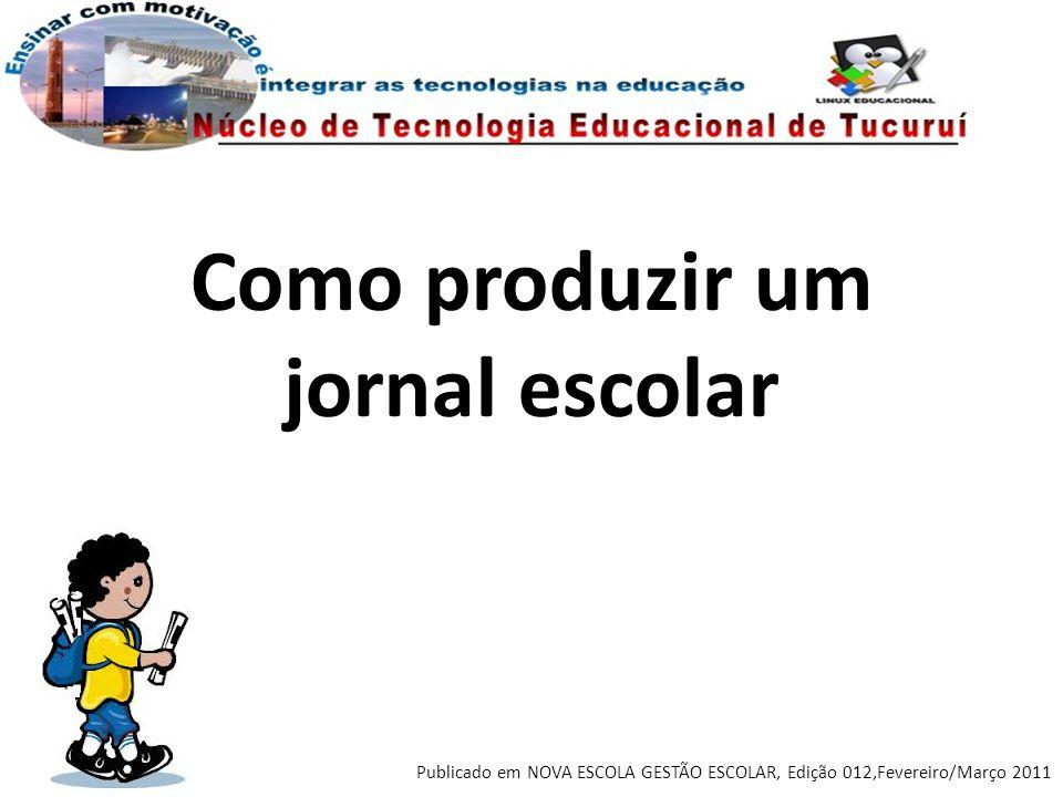 Como produzir um jornal escolar