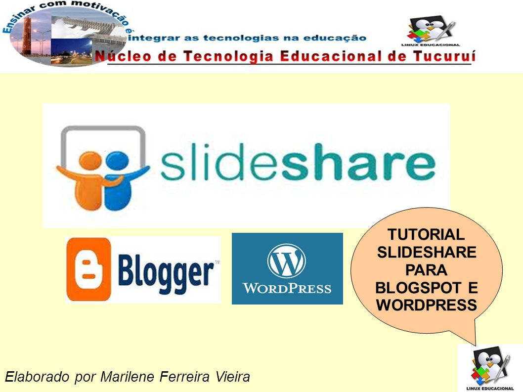 TUTORIAL SLIDESHARE PARA BLOGSPOT E WORDPRESS
