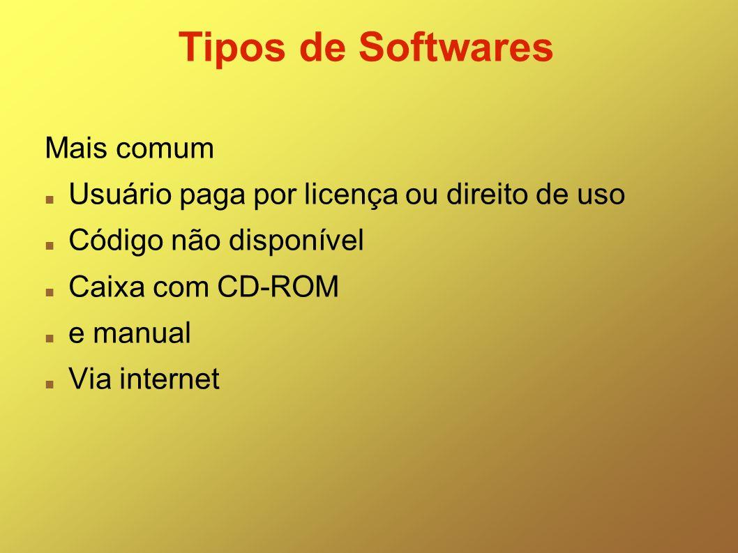 Tipos de Softwares Mais comum