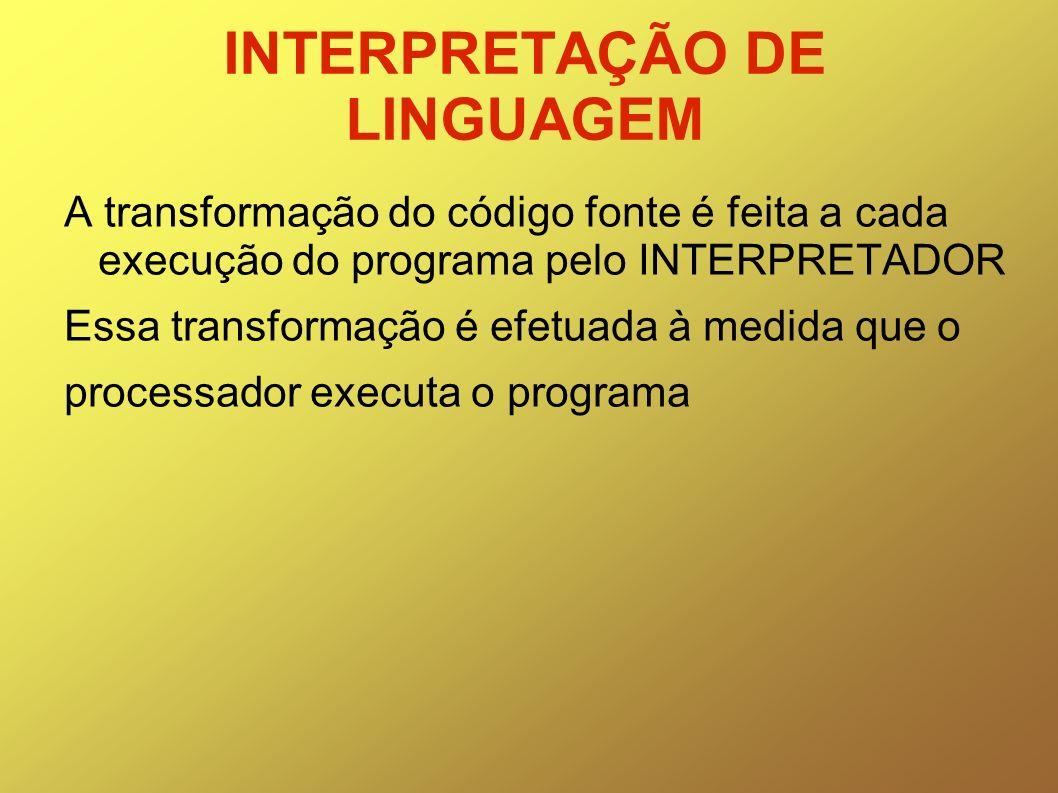 INTERPRETAÇÃO DE LINGUAGEM