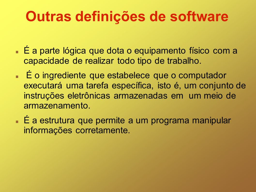 Outras definições de software