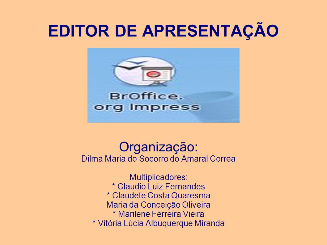 EDITOR DE APRESENTAÇÃO
