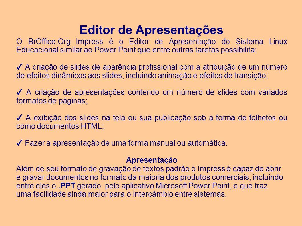 Editor de Apresentações