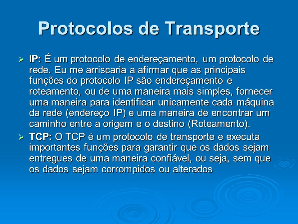 Protocolos de Transporte