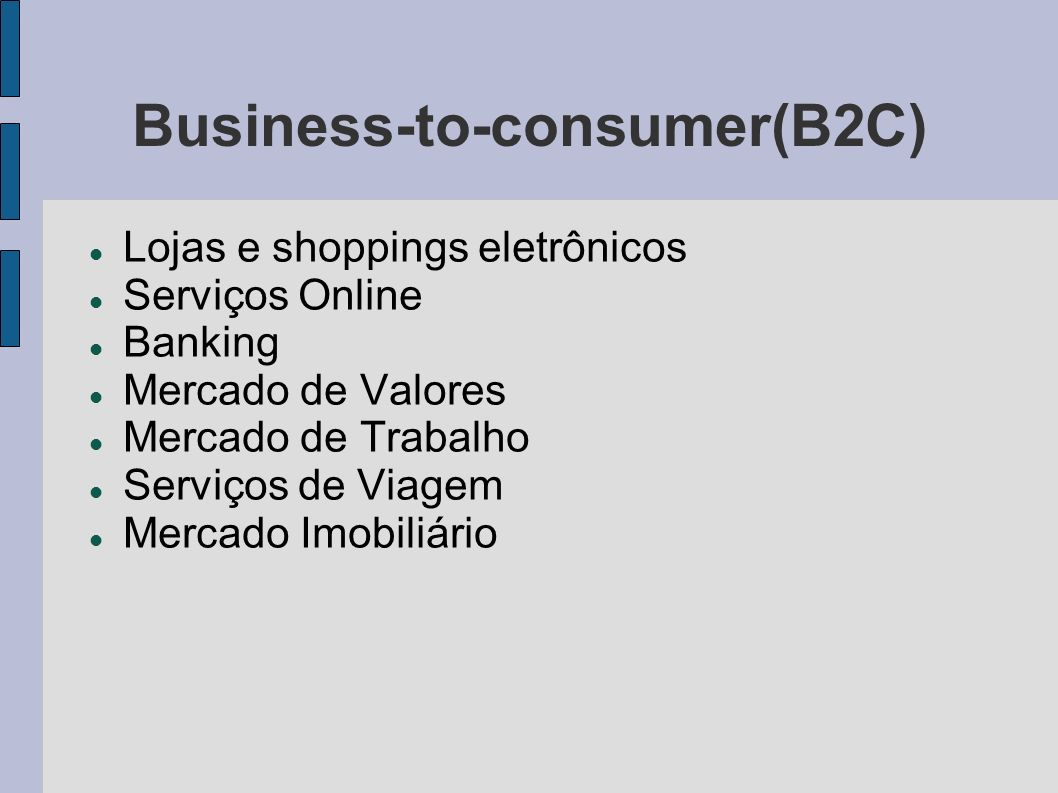Business-to-consumer(B2C)