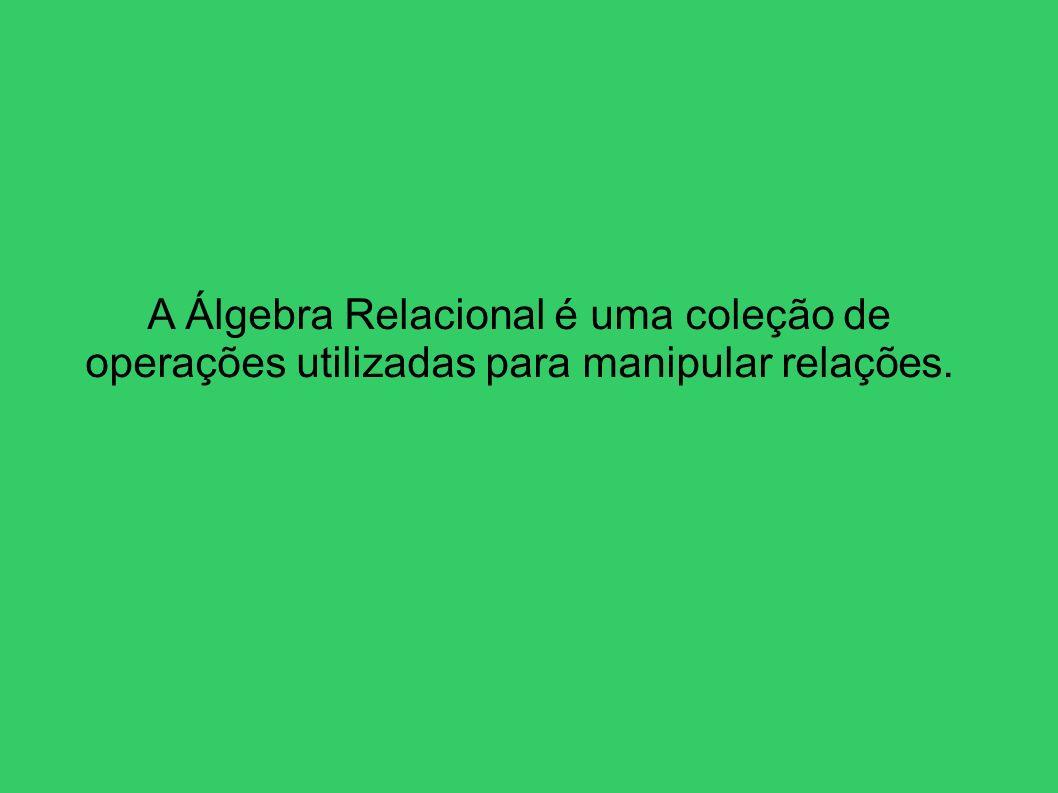 A Álgebra Relacional é uma coleção de