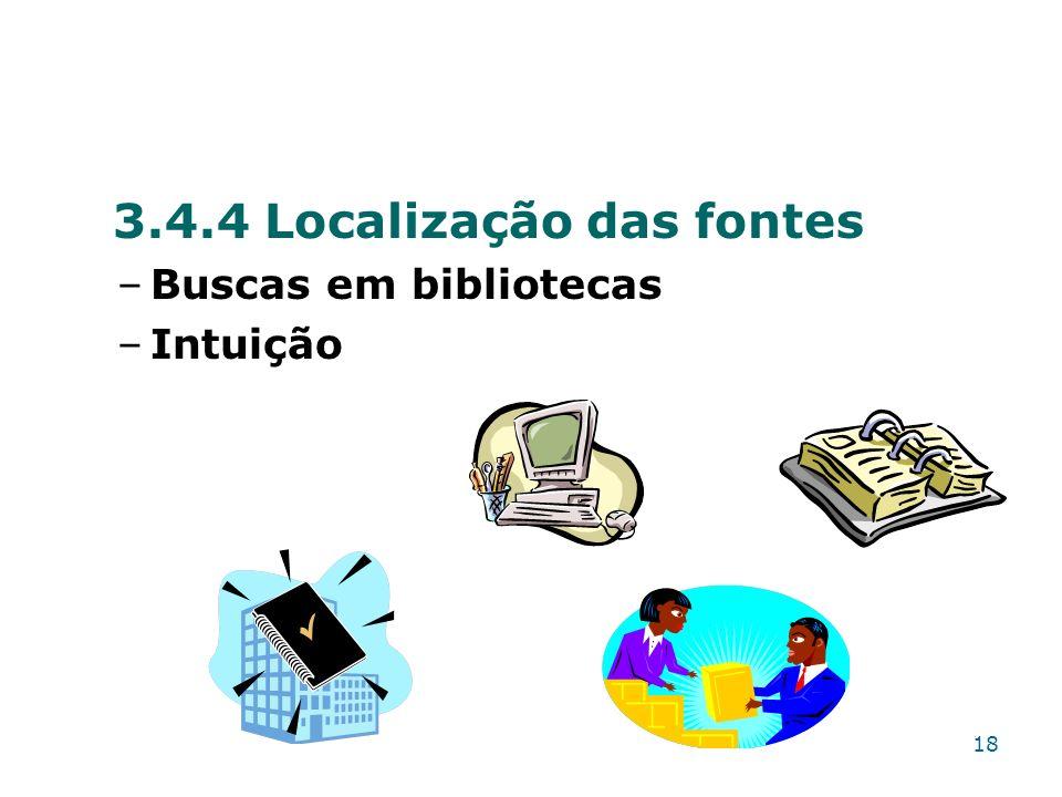 3.4.4 Localização das fontes